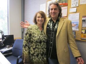 Paul Mark and Carolyn Fox in the Studio