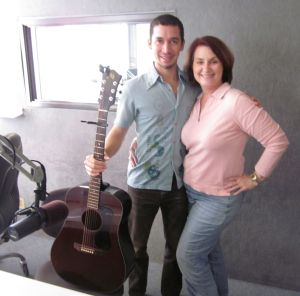 Makana and Carolyn Fox in the Studio