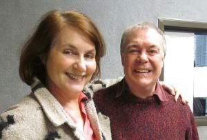 Phil Proctor in the studio with Carolyn Fox